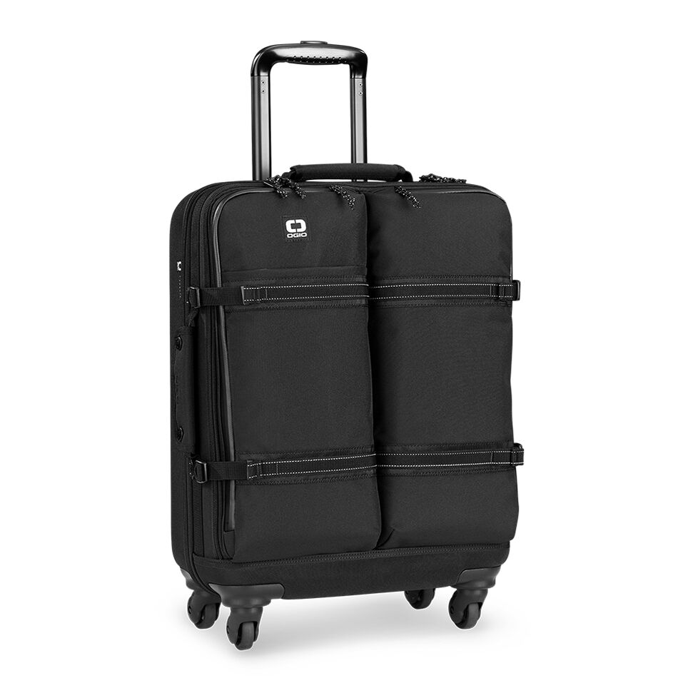 The OGIO ALPHA Convoy 520s Travel Bag is complete and fully equipped. This 4wheel carryon spinner is sized to meet international airline standards.