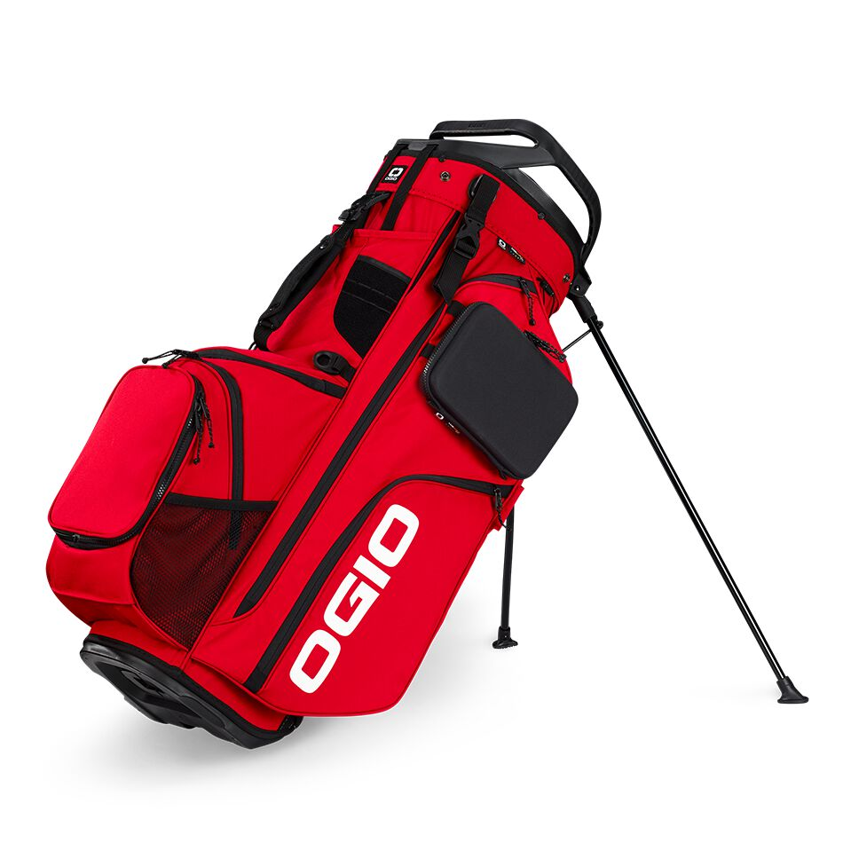 The OGIO Alpha Convoy 514 RTC Bag is the ultimate fully loaded RTC RangetoCart bag has all the storage and organization of a cart bag but with a stand, and with hand selected materials, intuitive organization, and exceptional durability.