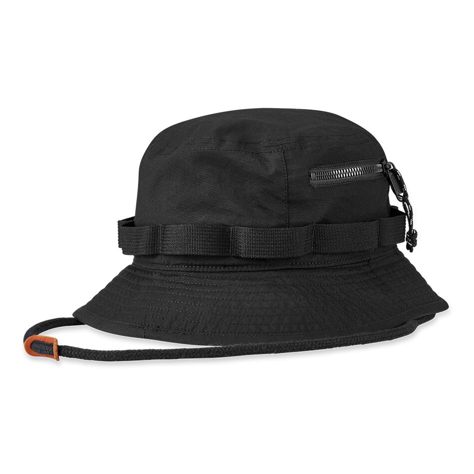 The Alpha Bucket Hat is built to be water repellent with stretch, the perfect companion for both sunny and wet weather.